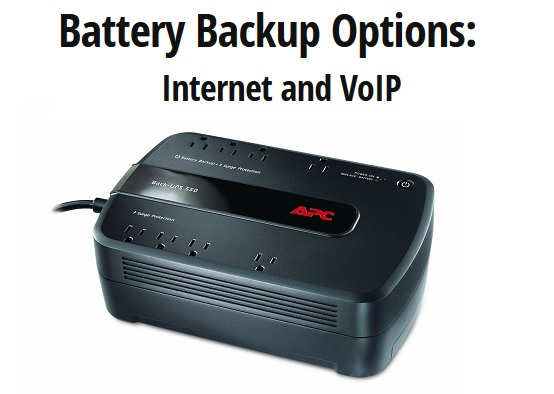 Internet And Cable Providers >> Battery Backup for Internet and VoIP - Charge Daily