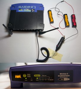 18650 battery powered wifi router