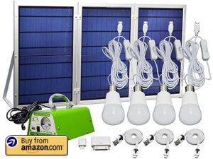 HKYH 30 Watt Solar Panel Lighting Kit