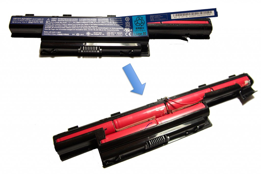 opening laptop battery AS10D31