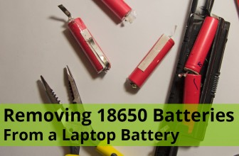 Getting 18650 Batteries From a Laptop Battery